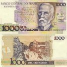 Brazil banknote 1988 1000 cruzados UNC