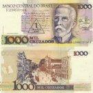 Brazil banknote 1988 1 cruzado novo on 1000 cruzados UNC