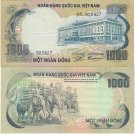 SOUTH VIETNAM banknote 1000 DONG 1972 VF-EF