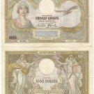 Yugoslavia banknote 1000 dinara 1931 LARGE F-VF