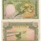 SOUTH VIETNAM banknote 5 DONG 1955 VF-EF
