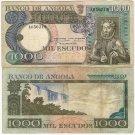 ANGOLA banknote 1000 ESCUDOS 1973 F-VF