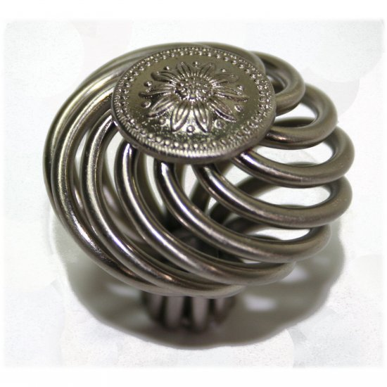 "25 Olympia Cabinet Knob Birdcage Knob Satin Nickel 1-1/2"" Diameter 1202"