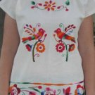 Embroidered Shirt with Intricate Bird Pattern