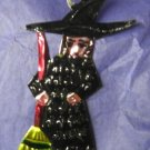 Witch Ornament - Tin