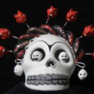 Dia De Los Muertos Skull With Devil Accents