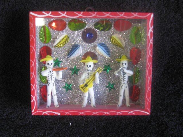 Dia De Los Muertos Box - Red 3 Skeleton Band