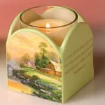 "Sunset at Riverbend Farm"" Votive Holder"