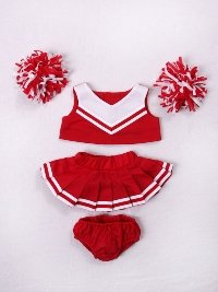 Red & White Cheer Outfit