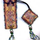 EXOTIC SPICE BEADED RIBBON SCISSOR CASE & FOB KIT TEALS