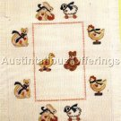 BABY AFGHAN CROSS STITCH KIT RARE CHILDS VINTAGE PULL TOYS