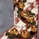 RARE HOLIDAY REINDEER JINGLEBELLS NEEDLEPOINT CHRISTMAS STOCKING KIT