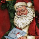 RARE  ROSCHE SANTA LETTER NEEDLEPOINT CHRISTMAS STOCKING KIT