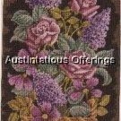 RARE LECLAIR CLASSIC FLORAL ELSA WILLIAMS NEEDLEPOINT KIT ROSES LILACS