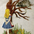 RARE ALICE IN WONDERLAND CREWEL EMBROIDERY KIT CHESHIRE CAT