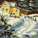 RARE REINARDY WINTER FARM NEEDLEPOINT KIT CHICKADEES PINE
