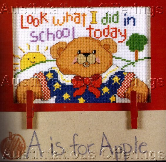 BEAR CROSS STITCH KIT HOLDER FOR PAPER OR PICTURES