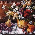 RARE GILLUM  FRUIT FLORAL STILL LIFE NEEDLEPOINT KIT ABUNDANT HARVEST BEAUTY