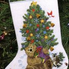 RARE JUDITH ANN GRIFFITH TEDDY BEAR CREWEL EMBROIDERY CHRISTMAS STOCKING KIT