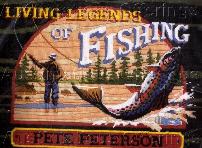 RARE REINARDY FLY FISHING LEGENDS LONGSTITCH NEEDLEPOINT KIT TROUT