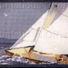 RARE ROSSI SUMMER SAILING NAUTICAL NEEDLEPOINT PILLOW KIT SAILBOAT