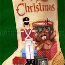 RARE LECLAIR VINTAGE TOY SOLDIER CHRISTMAS TOYS NEEDLEPOINT STOCKING KIT BOY