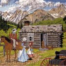 HARD TO FIND RUSTIC SLOANE SOUTHWEST NEEDLEPOINT KIT OLD WEST PIONEERS
