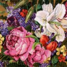 RARE ROSSI NEEDLEPOINT KIT BOUQUET LILIES ROSES LILACS TULIPS ABSOLUTELY GORGEOUS