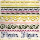 RARE PETIT POINT  BELFAST LINEN  BAND SAMPLER CROSS STITCH KIT