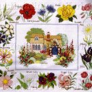 RARE FOXGLOVE IRIS SPRING GARDENS CROSS STITCH SAMPLER KIT COTTAGE GARDEN SERIES
