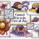 SUSAN WINGET HAT SAMPLER CROSS STITCH KIT GOOD FRIENDS GREAT JOY