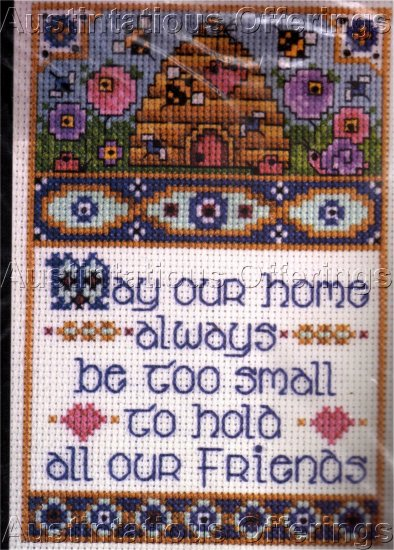 JOAN ELLIOT CROSS STITCH KIT WITTY SAYINGS OUR HOME