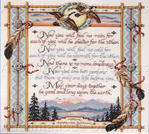 MARRIAGE BLESSING ORTON SAMPLER KIT RUSTIC NATIVE AMERICAN