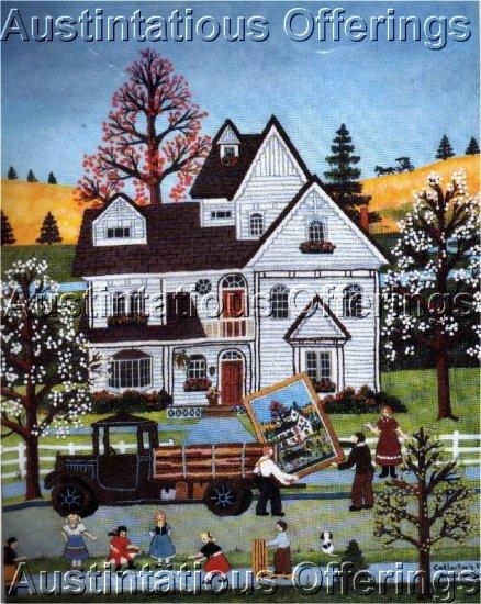 PRIMITIVE FOLK ART WOOSTER SCOTT FARM HOUSE EMBROIDERY KIT