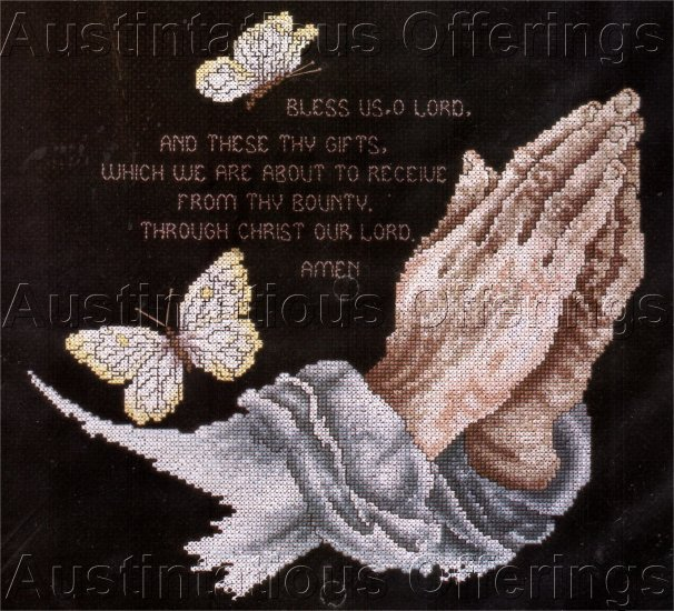 INSPIRATIONAL PRAYER SAMPLER CROSS STITCH KIT BLESS US