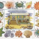 SEA SIDE COTTAGE CROSS STITCH SAMPLER KIT COTTAGE GARDEN SERIES