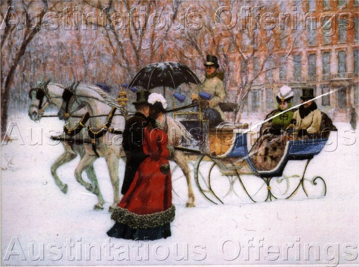 RARE MALEY VICTORIAN CREWEL EMBROIDERY KIT WINTER SLEIGH