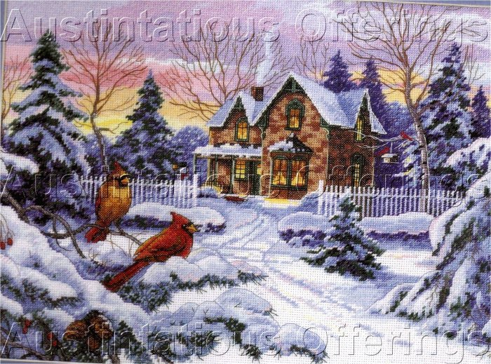RARE ALAN SAKHAVARZ WINTER MEMORIES GOLD COLLECTION CROSS STITCH KIT