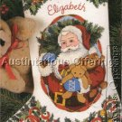 RARE  PAM MARKER CHRISTMAS SANTA CREWEL EMBROIDERY STOCKING KIT