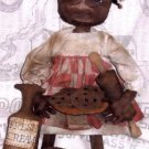 PRIMITIVE BLACK FOLK ART DOLL PATTERN CHART COOKIES 'N' CREAM