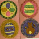 PRIMITIVE FOLK ART  PATTERN CHART EASTER MINI PENNIES FELT EMBROIDERY