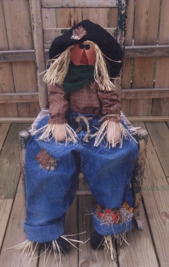 Primitive Fall Harvest Halloween Folk Art Doll Pattern