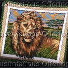 KING OF BEASTS AFRICAN PLAINS LION ASLAN NEEDLEPOINT PILLOW KIT
