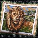 KING OF BEASTS AFRICAN PLAINS LION ASLAN NEEDLEPOINT PILLOW KIT