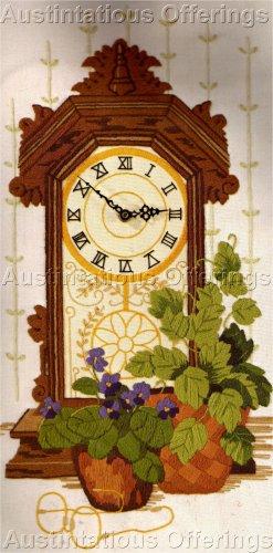 RARE BLYLER  GINGERBREAD MANTLE CLOCK CREWEL EMBROIDERY KIT