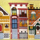 RARE VICTORIAN HOMES TEXTURED GROS POINT & LONGSTITCH NEEDLEPOINT KIT
