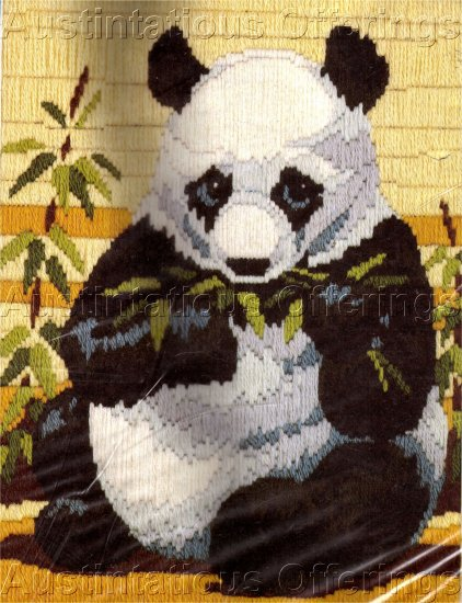 RARE REINARDY LONGSTITCH NEEDLEPOINT KIT PANDA BEAR