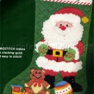 RARE SMITH SANTA CLAUS AT WORK LONGSTITCH NEEDLEPOINT STOCKING KIT TOY TRAIN