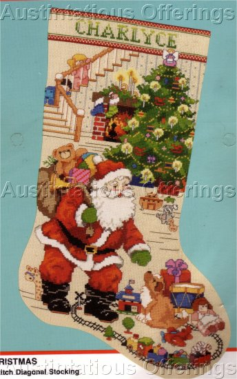 Rare Gillum Cross Stitch Christmas Stocking Kit Christmas Best