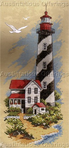 Hard to Find  Maritime Lighthouse Stamped Cross Stitch Kit Keeper's Dream